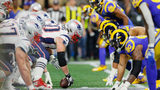 David Andrews #60 of the New England Patriots prepares for the snap in the first half during Super Bowl LIII against the Los Angeles Rams at Mercedes-Benz Stadium on February 3, 2019 in Atlanta, Georgia. (Photo by Kevin C. Cox/Getty Images)
