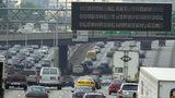 Heavy traffic on Interstate 75/85 in Atlanta, Georgia.