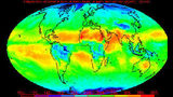 An example of a Monthly Mean Outgoing Longwave Radiation (OLR) product produced from NOAA polar-orbiter satellite data, which is frequently used to study global climate change. Photo: NOAA