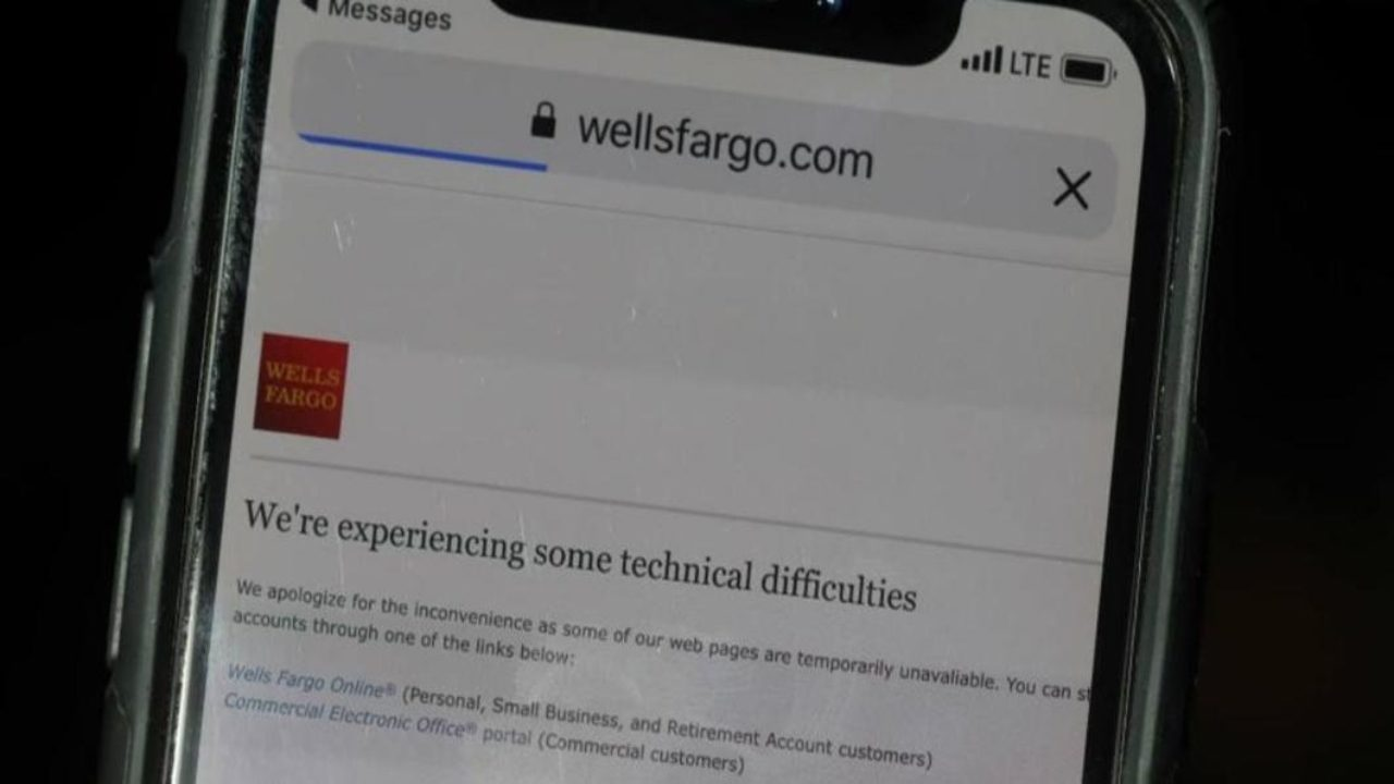 Wells Fargo Reports Outages To Online Mobile Banking Apps