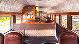 The interior of one of the luxury cars on the Jose Cuervo Express train, featuring a tequila bar. Photo: Mundo Cuervo