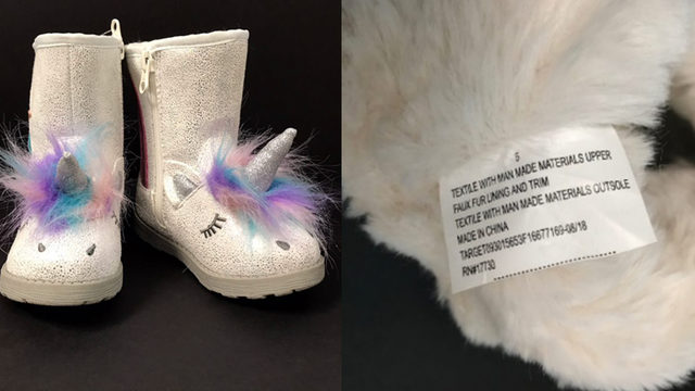 81c577f8f579 Target and the Consumer Product Safety Commission have announced a recall  of toddler unicorn boots due to a choking hazard.