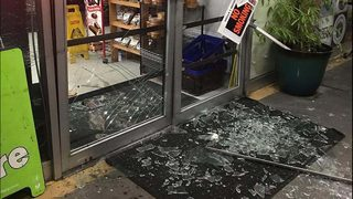 Truck backs into beer shop in botched burglary