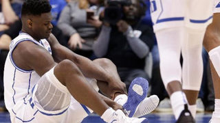 Nike does damage control after Duke star forward blows out shoe, injures knee