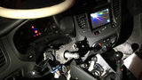 A driver was arrested after being pulled over without a steering wheel. (Photo: Pueblo Police)
