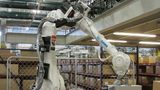 """This Neocortex robot made by Yaskawa America Inc.'s Motoman Robotics Division is """"an interactive 3D learning platform that uses sensor input to learn and react in real-time,"""" according to the company."""