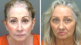 Linda Ann Roberts, from left, and Mary Beth Tomaselli, both of Palm Harbor, Florida, are each charged with first-degree murder in the March 2015 death of their father, 85-year-old Anthony Tomaselli.