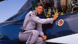 LOS ANGELES - AUGUST 28: Jan-Michael Vincent plays Stringfellow Hawke on AIRWOLF.