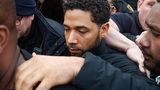 In this Feb. 21, 2019 file photo, Jussie Smollett leaves George N Leighton Criminal Courthouse in Chicago.  (AP Photo/Kamil Krzaczynski, File)