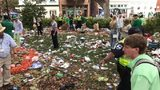 Photos showing the aftermath of one of the country's most popular St. Patrick's Day celebrations are drawing ire on social media.