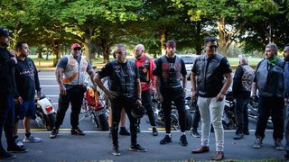New Zealand bikers stand guard at mosques for first Friday prayers since massacre
