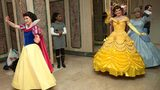 Disney princesses, including Snow White, Belle and Cinderella attend a tea party at The Plaza Hotel on January 18, 2011 in New York City.