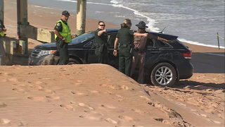 Video captures moments before SUV crashes into children on Florida beach
