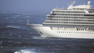 Helicopters used to rescue passengers from stranded cruise ship during dangerous storm