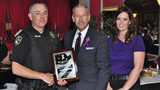 Bossier City police Officer Terry Yetman, far left, is pictured Oct. 5, 2018, with Caddo/Bossier Domestic Violence Task Force President Jim Taliaferro and Sgt. Tifani Brinkman of the Bossier City Police Department.