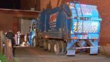 A man sleeping in a dumpster was tossed into a garbage truck overnight. He ended up losing his prosthetic leg in the trash.
