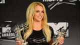 Britney Spears, winner of the Video Vanguard Award and Best Pop Video Award for 'Till the World Ends' poses in the press room during the 2011 MTV Video Music Awards at Nokia Theatre L.A. LIVE on August 28, 2011 in Los Angeles.