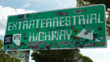 Road sign south of the United States Air Force facility commonly known as Area 51. (File photo via Pixabay.com)