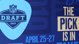 The logo for the 2019 NFL Draft is seen on a banner in Nashville on Tuesday, April 23, 2019.