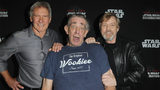 Harrison Ford, Peter Mayhew and Mark Hamill attend the 40 Years of Star Wars panel during the 2017 Star Wars Celebrationat Orange County Convention Center on April 13, 2017 in Orlando, Florida. (Photo by Gerardo Mora/Getty Images for Disney)