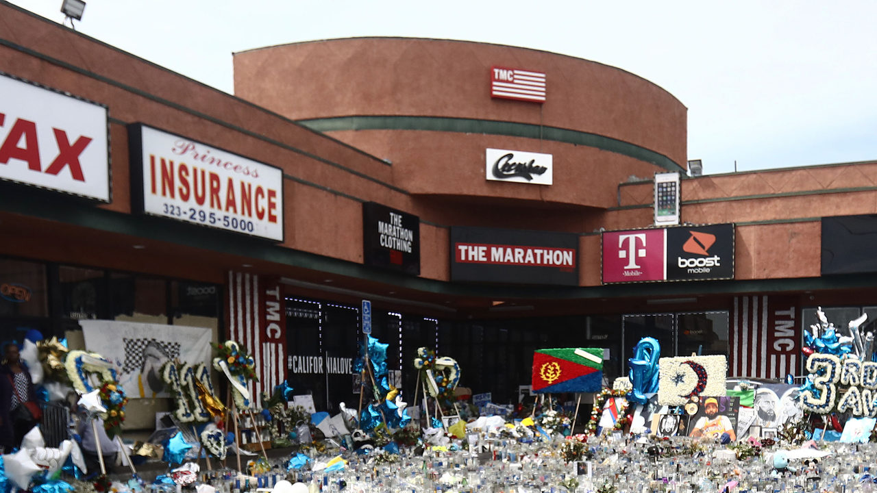 bc0ae0e14432 Nipsey Hussle's The Marathon Clothing brick and mortar store is closed  indefinitely | Boston 25 News