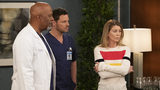 "James Pickens Jr., Justin Chambers and Ellen Pompeo in a scene from the season 15 finale of ""Grey's Anatomy."" The Shonda Rhimes medical drama has been renewed for seasons 16 and 17."