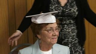 Woman, 96, receives high school diploma