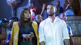 "This photo provided by Fox shows Taraji P. Henson, left, as Cookie Lyon and Jussie Smollett as Jamal Lyon in the ""My Bad Parts"" episode of the television series, ""Empire."""