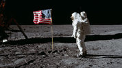 Astronaut Buzz Aldrin and the American flag on the moon during the Apollo 11 mission July 20, 1969. NASA hopes too return humans to the lunar surface by 2024, including the first-ever woman. (Photo: NASA)