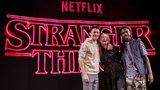 Actors Noah Schnapp, Caleb McLaughlin and actress Sadie Sink pose after the Stranger Things panel during day 2 of Argentina Comic Con 2018 at Costa Salguero on December 08, 2018 in Buenos Aires, Argentina. (Photo: Ricardo Ceppi/Getty Images/NETFLIX)