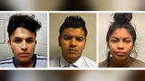 Three Maryland teens, from left, Josue Fuentes-Ponce, 16, Joel Escobar, 17 and Cynthia Hernandez-Nucamendi, 14, are each charged as adults with first-degree murder in the death of 14-year-old Ariana Funes-Diaz.