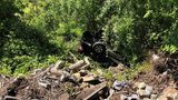A Jeep ran off the road and rolled down an embankment Thursday morning.
