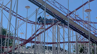 Fire crews rescue children stuck on roller coaster