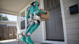 Ford has teamed up with Agility Robotics on a new delivery robot named Digit that can walk packages to doors like a human and arrives in a self-driving vehicle.