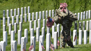 Photos: Soldiers place flags at Arlington National Cemetery for Memorial Day