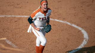 University of Texas softball pitcher Miranda Elish OK after getting hit in face by throw