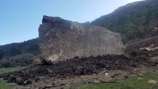 Giant, 10-million-pound boulders, one as large as house, shut down Colorado highway
