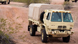 FILE PHOTO: A Light Medium Tactical Vehicle (LMTV) during a training exercise in Pheonix, Arizona. A similar military vehicle was apparently involved in an accident near West Point on Thursday.