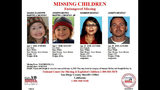 A missing poster shows Gianni McStay, 4, Joseph McStay Jr., 3, Summer McStay, 43, and Joseph McStay, 40, following their February 2010 disappearance. (National Center for Missing & Exploited Children)