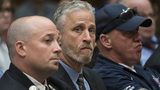 Entertainer and activist Jon Stewart lends his support to firefighters, first responders and survivors of the 9/11 terror attacks at a subcommittee hearing Tuesday.