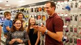 METAIRIE, LA - JUNE 15: Drew Brees, Quarterback of the New Orleans Saints, surprises Target guests and helps them shop for last minute father's day gifts at Target on June 15, 2016 in Metairie, Louisiana.