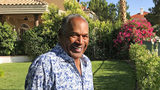This June 3, 2019 photo provided by Didier J. Fabien shows O.J. Simpson in the garden of his Las Vegas home. Simpson launched a Twitter account days before the 25th anniversary of his Bronco police chase.