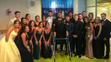 Friends and family helped Ilijah Barron, who is in the hospital battling cancer, celebrate their senior ball by bringing the event to him. (Photo courtesy Nelisha Barron)
