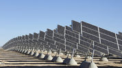 A massive solar array to generate energy from the sun.