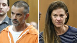 Fotis Dulos, left, and Michelle Troconis, both of Farmington, Conn., are arraigned, June 3, 2019, on charges of tampering with or fabricating physical evidence and first-degree hindering prosecution. (Tyler Sizemore/Hearst Connecticut Media via AP)