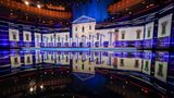 MIAMI, FL - The stage is set for the first Democratic presidential primary debate for the 2020 election at the Adrienne Arsht Center for the Performing Arts, June 26, 2019 in Miami, Florida.