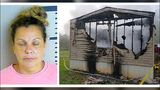 """Jacqueline """"Pat"""" Stewart, 45, of McIntosh, Alabama, is charged with murder in the death of 7-year-od Case Trae Ketchum, who was pulled, dead of blunt force trauma, from his father's blazing mobile home early Sunday, June 30, 2019."""
