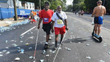 Brothers Willard J. Walker and John W. Smith, are legally blind and completed the Peachtree Road Race recently. (Photo: The Atlanta Journal-Constitution)