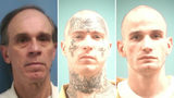 """Benny Ray Blansett (left), Jonathan """"Hustle"""" Blankenship and Christopher Benson High escaped from two separate Mississippi prisons early Friday, authorities said."""