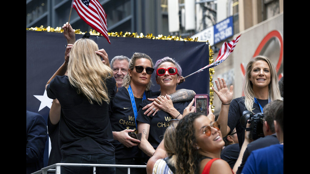 42925bbf Photos: U.S. Women's Soccer honored with ticker tape parade | WJAX-TV